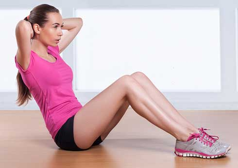 Exercise pill woman